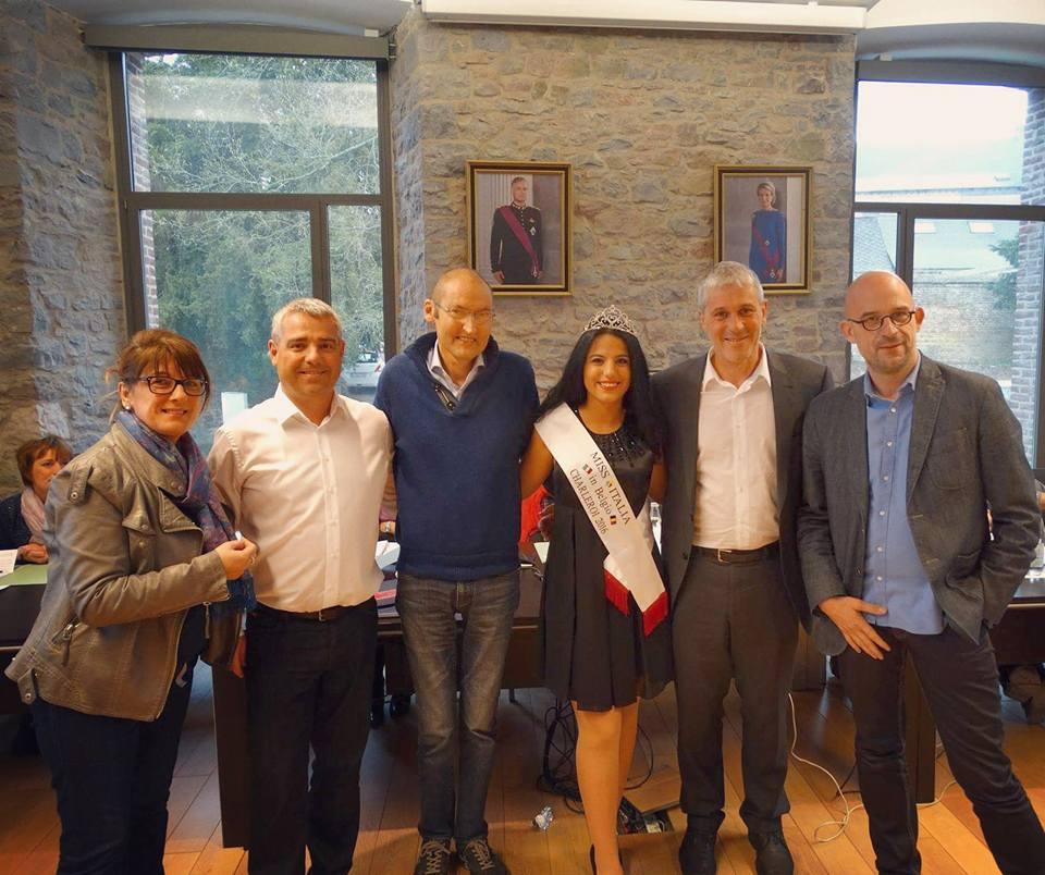 Conseil communal avec Miss Italia Charleroi 2016